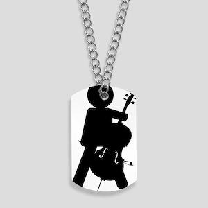 Cello-Player-13-a Dog Tags