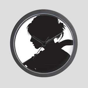 Cello-Player-07-a Wall Clock