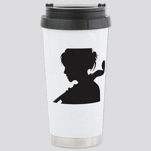 Cello-Player-07-a Stainless Steel Travel Mug