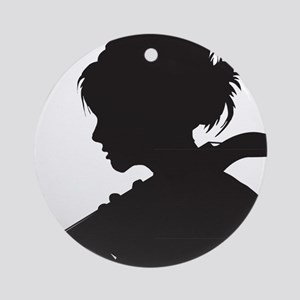 Cello-Player-07-a Round Ornament
