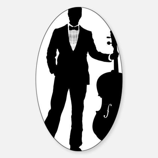 Cello-Player-09-a Sticker (Oval)