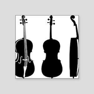 """Cello-08-a Square Sticker 3"""" x 3"""""""