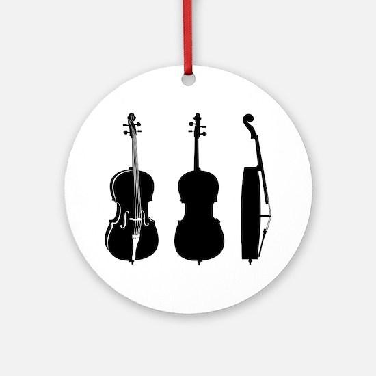 Cello-08-a Round Ornament