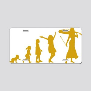 Evolution-Woman-02-c Aluminum License Plate