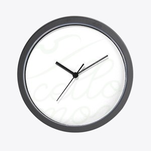 Cello-Mom-01-b Wall Clock