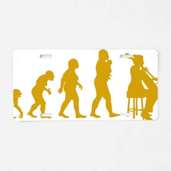 Evolution-Woman-04-c Aluminum License Plate
