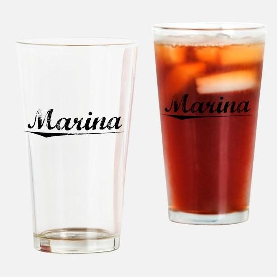 Marina, Vintage Drinking Glass