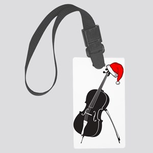 Merry-Christmas-01-a Large Luggage Tag