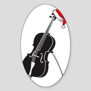 Merry-Christmas-01-a Sticker (Oval)