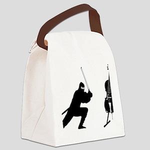 Cello-Ninja-01-a Canvas Lunch Bag