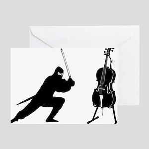 Cello-Ninja-01-a Greeting Card