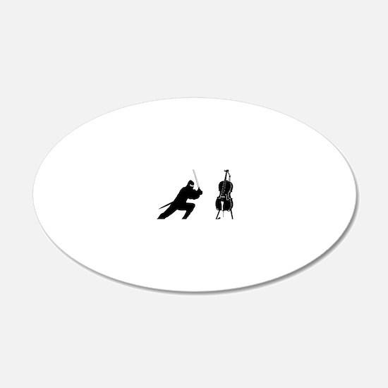 Cello-Ninja-01-a Wall Decal