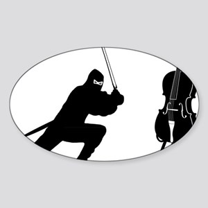 Cello-Ninja-01-a Sticker (Oval)