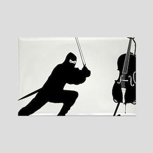 Cello-Ninja-01-a Rectangle Magnet