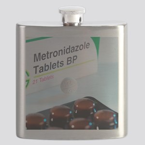Metronidazole antibiotic pills Flask