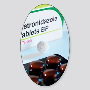 Metronidazole antibiotic pills Sticker (Oval)