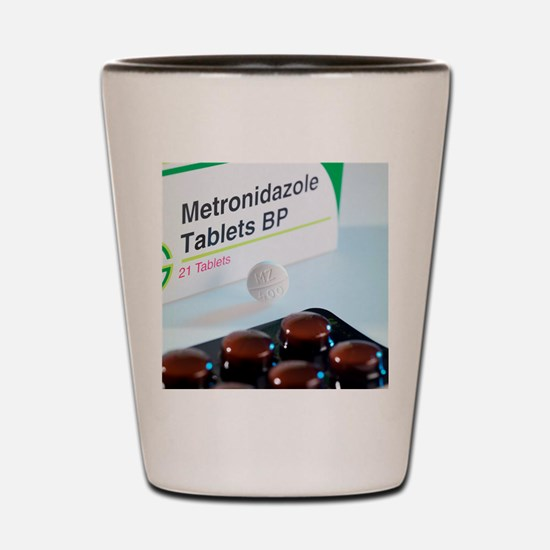 Metronidazole antibiotic pills Shot Glass