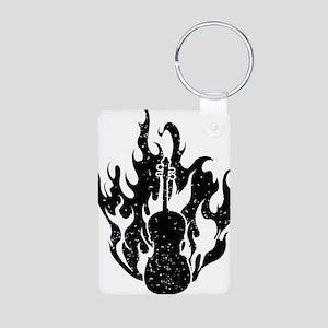 Flaming-Cello-01-a Aluminum Photo Keychain