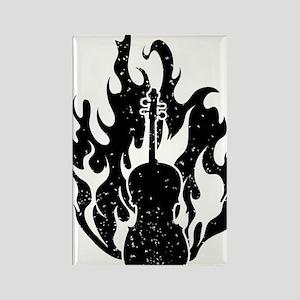 Flaming-Cello-01-a Rectangle Magnet