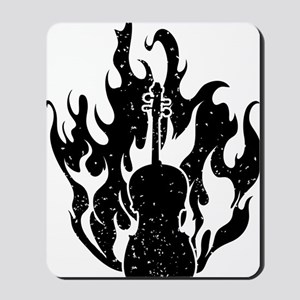 Flaming-Cello-01-a Mousepad