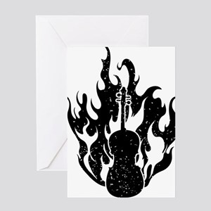 Flaming-Cello-01-a Greeting Card