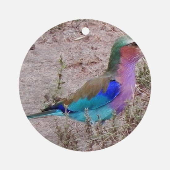 lilac breasted roller kenya collect Round Ornament