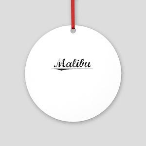 Malibu, Vintage Round Ornament