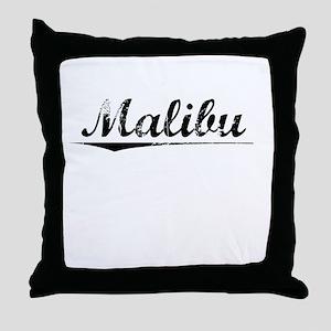 Malibu, Vintage Throw Pillow