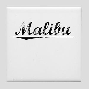 Malibu, Vintage Tile Coaster