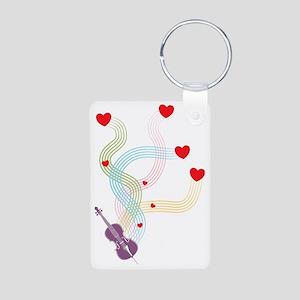 Lovely-Cello Aluminum Photo Keychain