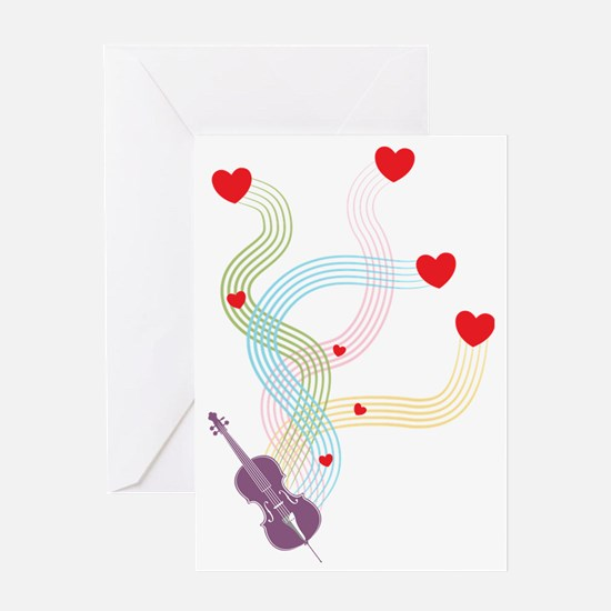Lovely-Cello Greeting Card
