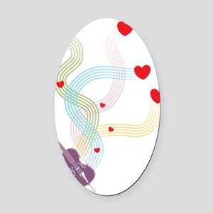 Lovely-Cello Oval Car Magnet