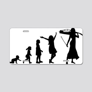 Evolution-Woman-02-a Aluminum License Plate