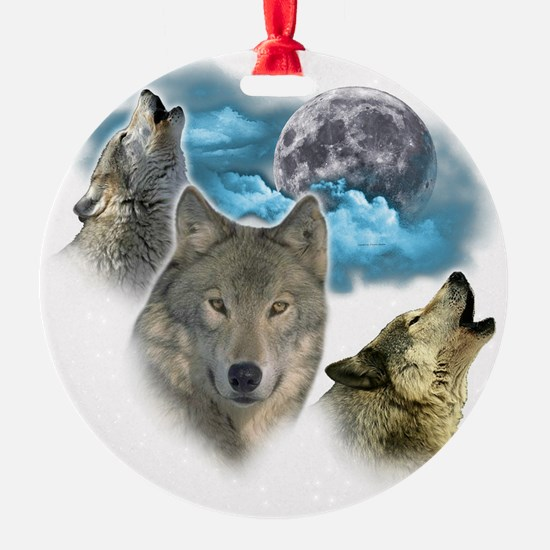 Wolves Moon Ornament