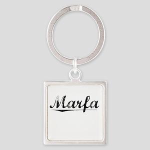 Marfa, Vintage Square Keychain