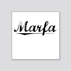 "Marfa, Vintage Square Sticker 3"" x 3"""