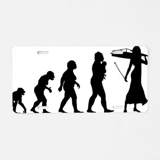 Evolution-Woman-01-a Aluminum License Plate