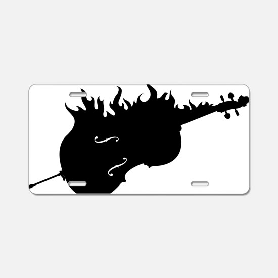 Flamed-Cello-01-a Aluminum License Plate
