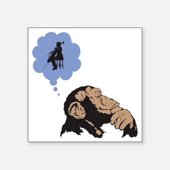 "Chimp-01 Square Sticker 3"" x 3"""