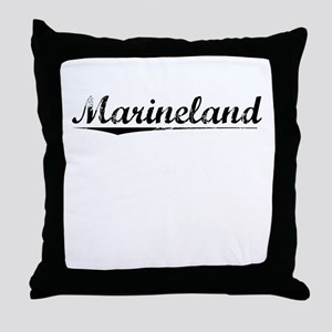 Marineland, Vintage Throw Pillow