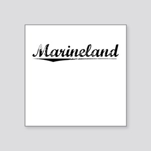 "Marineland, Vintage Square Sticker 3"" x 3"""