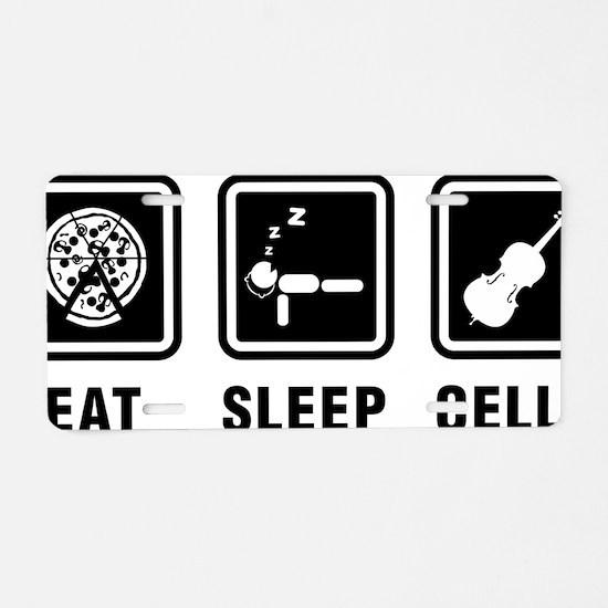 Eat-Sleep-Cello-01-a Aluminum License Plate