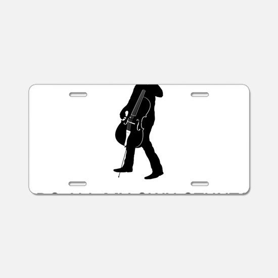I-Do-All-My-Own-Stunts-02-a Aluminum License Plate