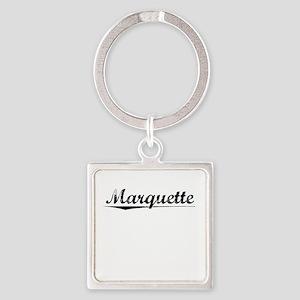 Marquette, Vintage Square Keychain