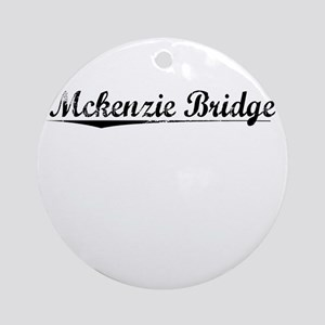 Mckenzie Bridge, Vintage Round Ornament