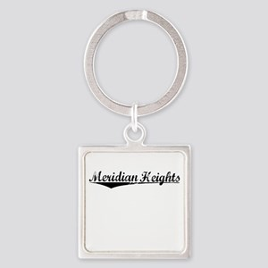 Meridian Heights, Vintage Square Keychain