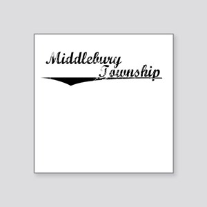 "Middlebury Township, Vintag Square Sticker 3"" x 3"""