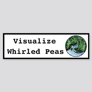 Visualize Whirled Peas Bumper Sticker