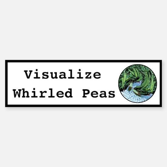 Visualize Whirled Peas Bumper Bumper Bumper Sticker