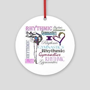 I Heart Rhythmic Gymnastics Round Ornament